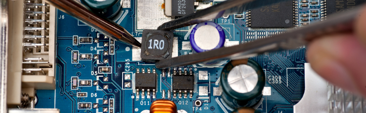 Repair of an assembly payment by means of a soldering iron